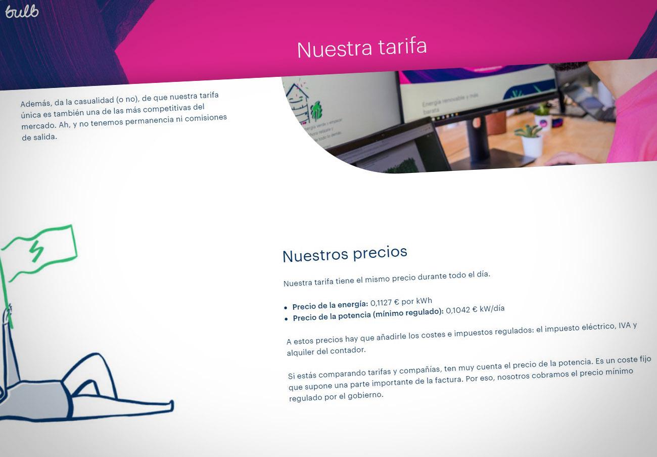 FACUA denuncia a la eléctrica Bulb por publicitar sus precios sin incluir los impuestos
