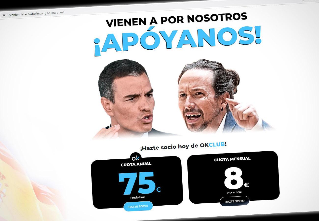 Tras la denuncia de FACUA y el expediente de Baleares, Okdiario deja de publicitar sus tarifas sin IVA