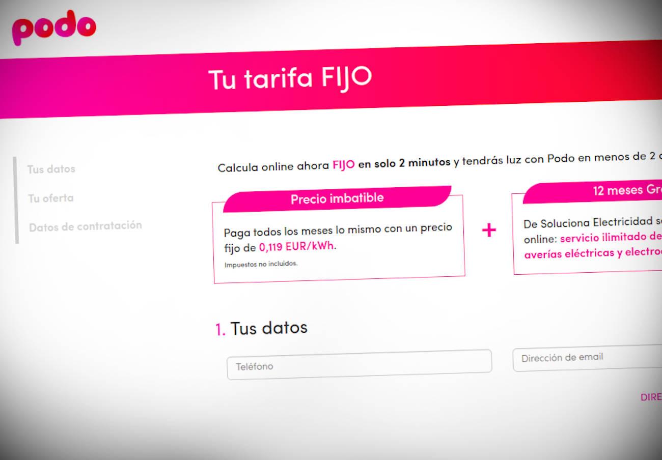 FACUA denuncia a la eléctrica Podo por publicitar sus tarifas sin incluir impuestos