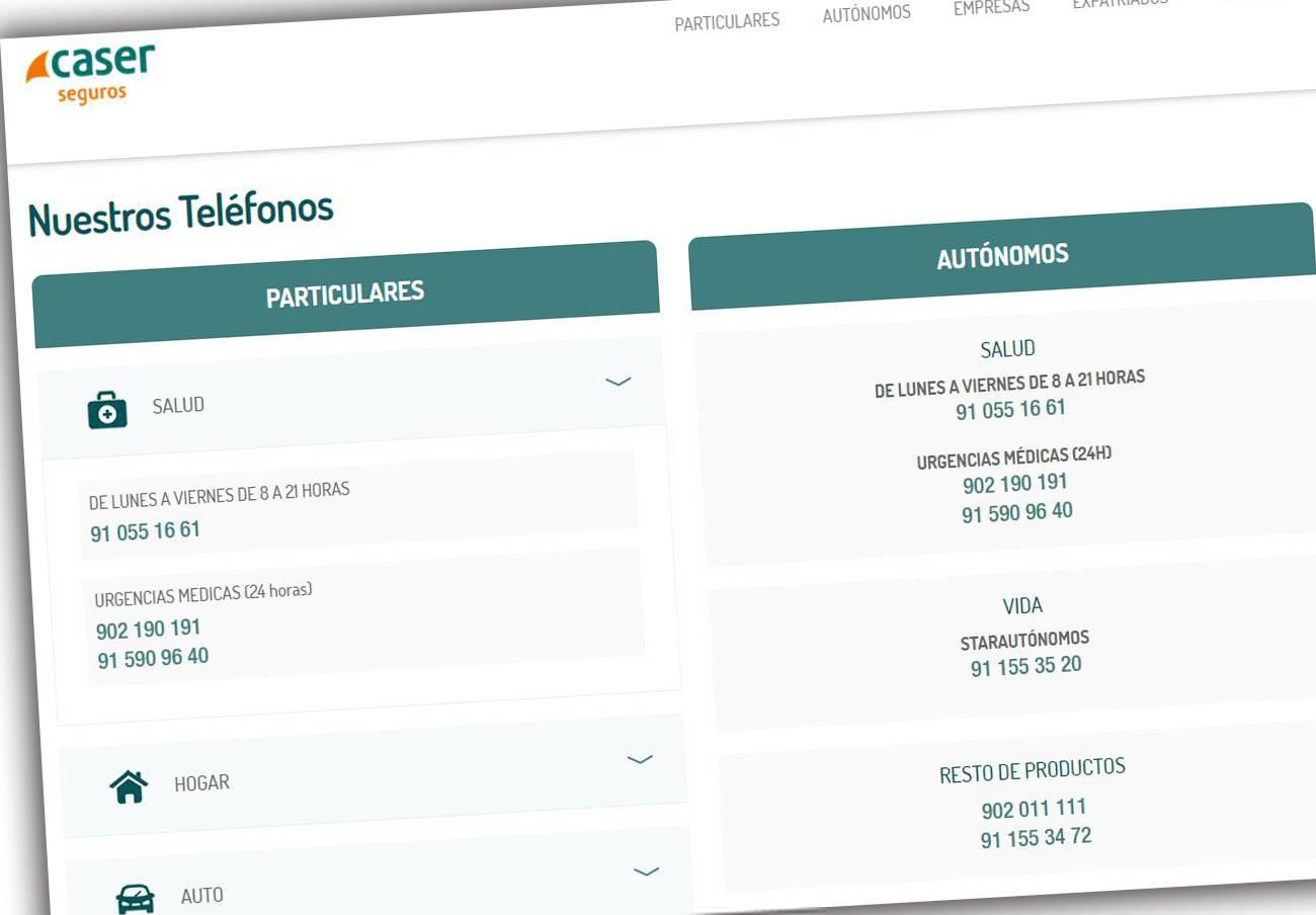 Expediente sancionador a Caser Seguros, denunciada por FACUA por no facilitar teléfonos gratuitos