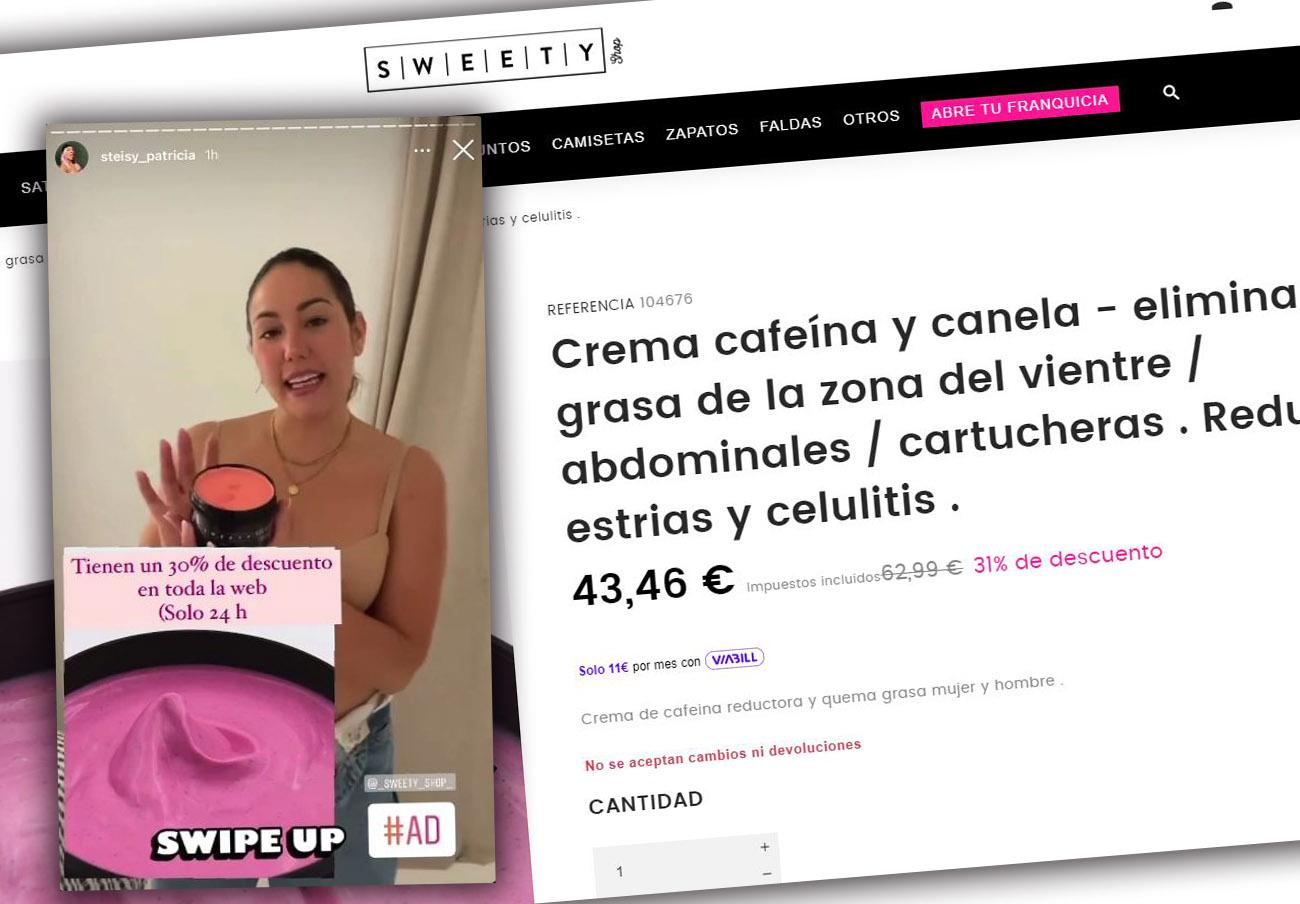 SweetyShop: FACUA denuncia unas cremas a las que atribuyen propiedades adelgazantes y antiinflamatorias