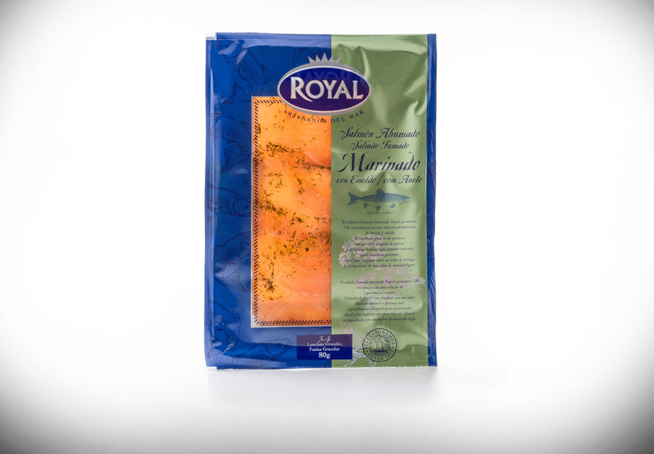 Consumo alerta de la presencia de Listeria en salmón ahumado marinado con eneldo de la marca Royal