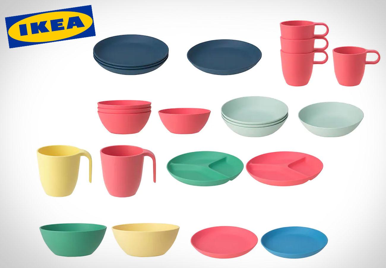 Ordenan la retirada del mercado de platos, boles y tazas Heroisk y Talrika de Ikea por riesgo de rotura