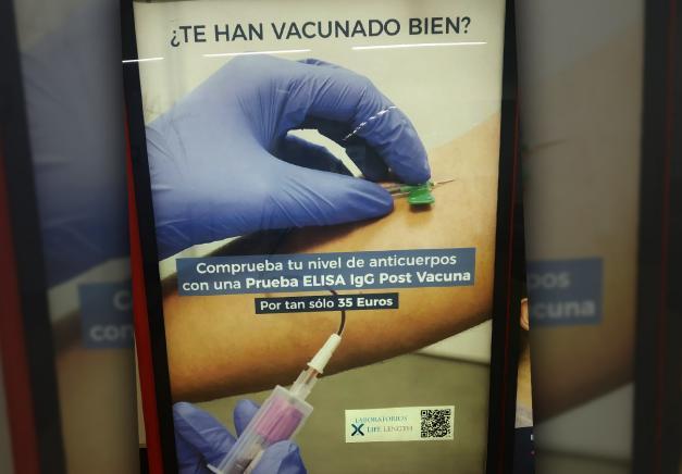 La empresa Life Length retira un anuncio en el que ponía en duda la eficacia de las vacunas