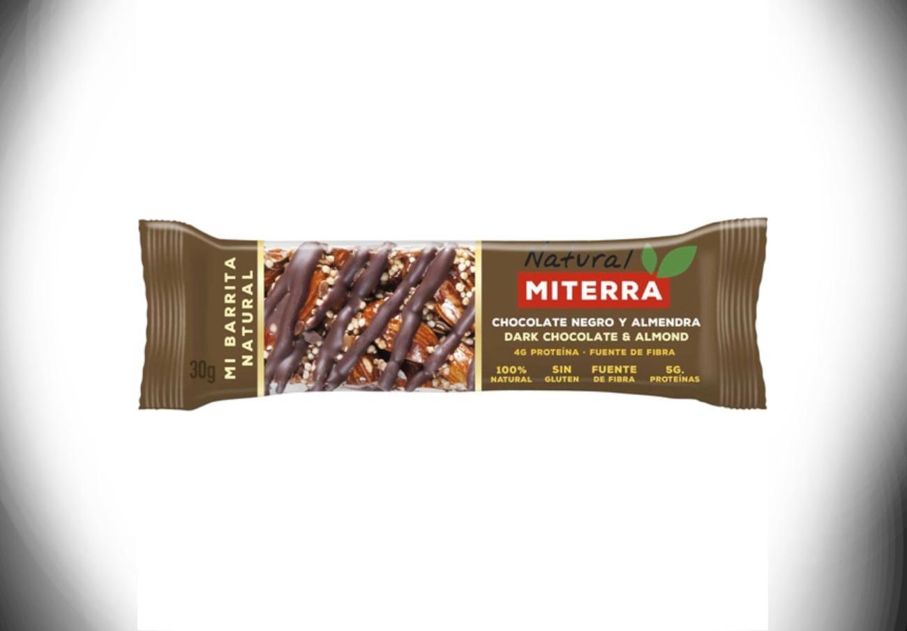 Alertan de la presencia de proteína de la leche en barritas de chocolate negro y almendra de Miterra