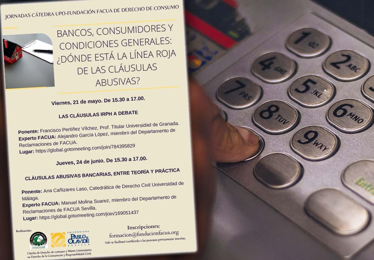 La Fundación FACUA y la UPO organizan una ponencia sobre cláusulas abusivas bancarias