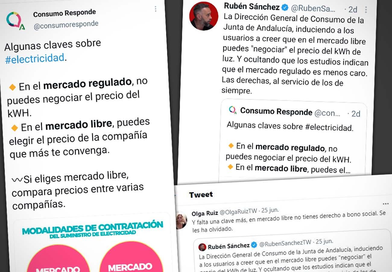 Luz: FACUA Andalucía critica la insensatez de la Junta al inducir a contratar tarifas del mercado libre