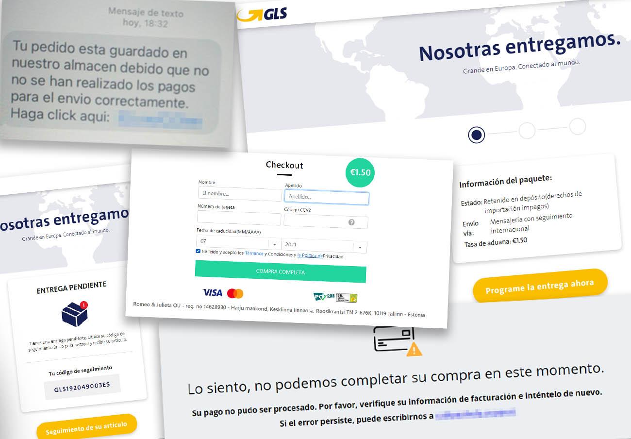 Detectan una nueva campaña de SMS fraudulentos que suplantan a la empresa de mensajería GLS