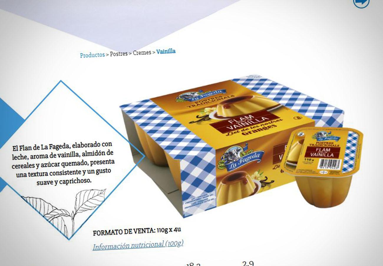 Cuatro lotes de flan de vainilla La Fageda se suman a la alerta alimentaria por óxido de etileno