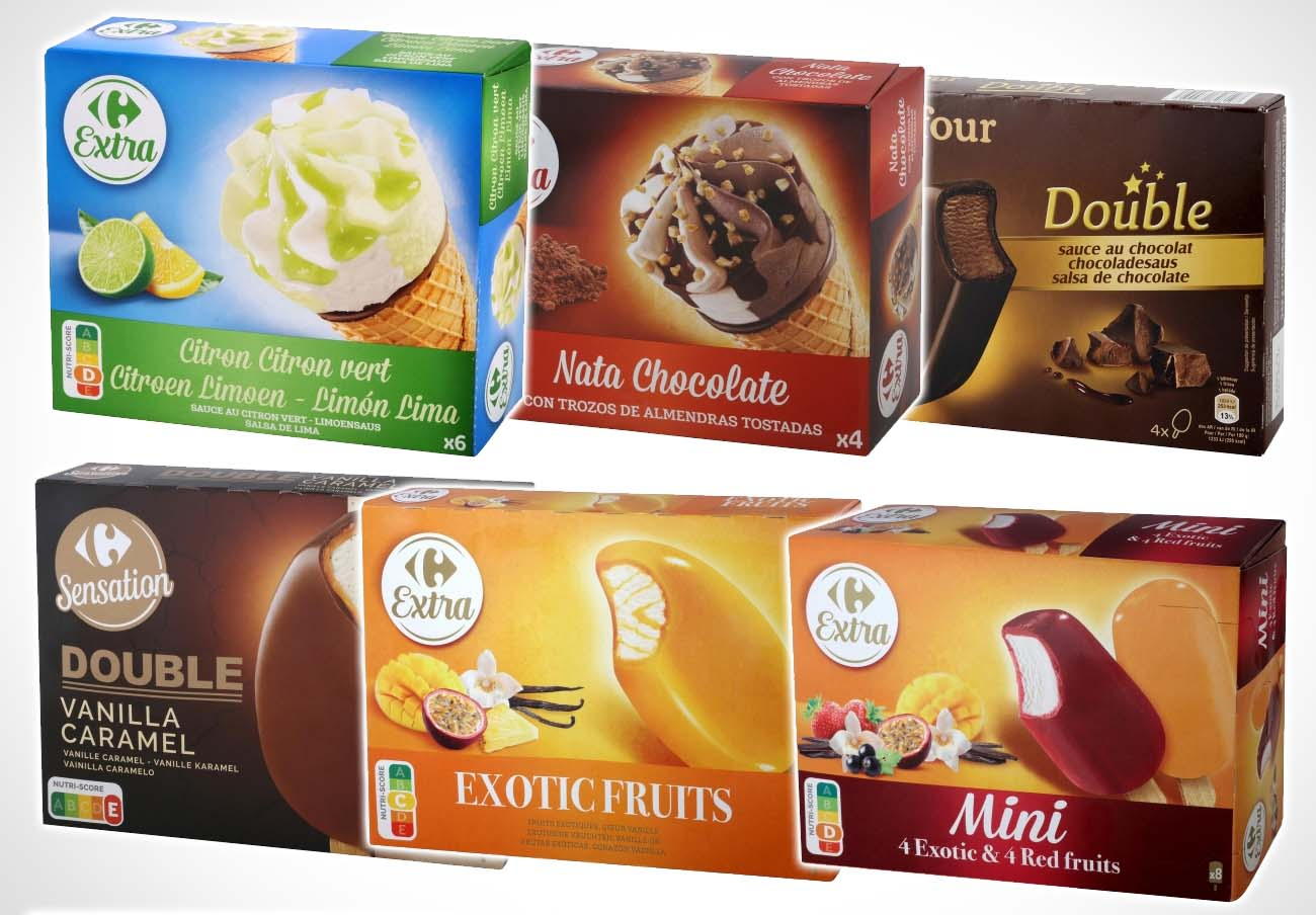 29 variedades de helados marca Carrefour, afectados por la contaminación con óxido de etileno