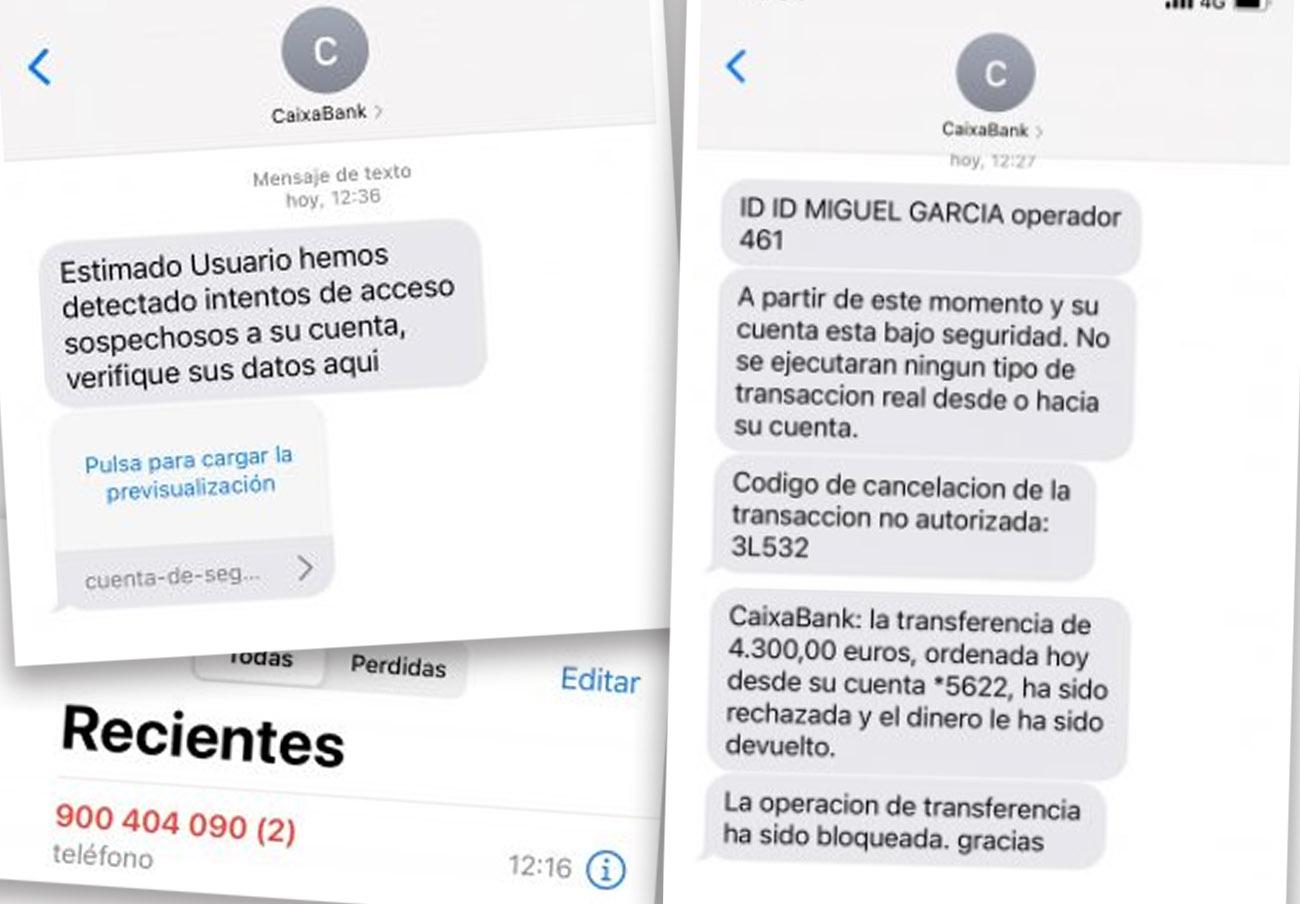 Detectan de un nuevo ciberfraude que roba los datos bancarios de los usuarios de CaixaBank