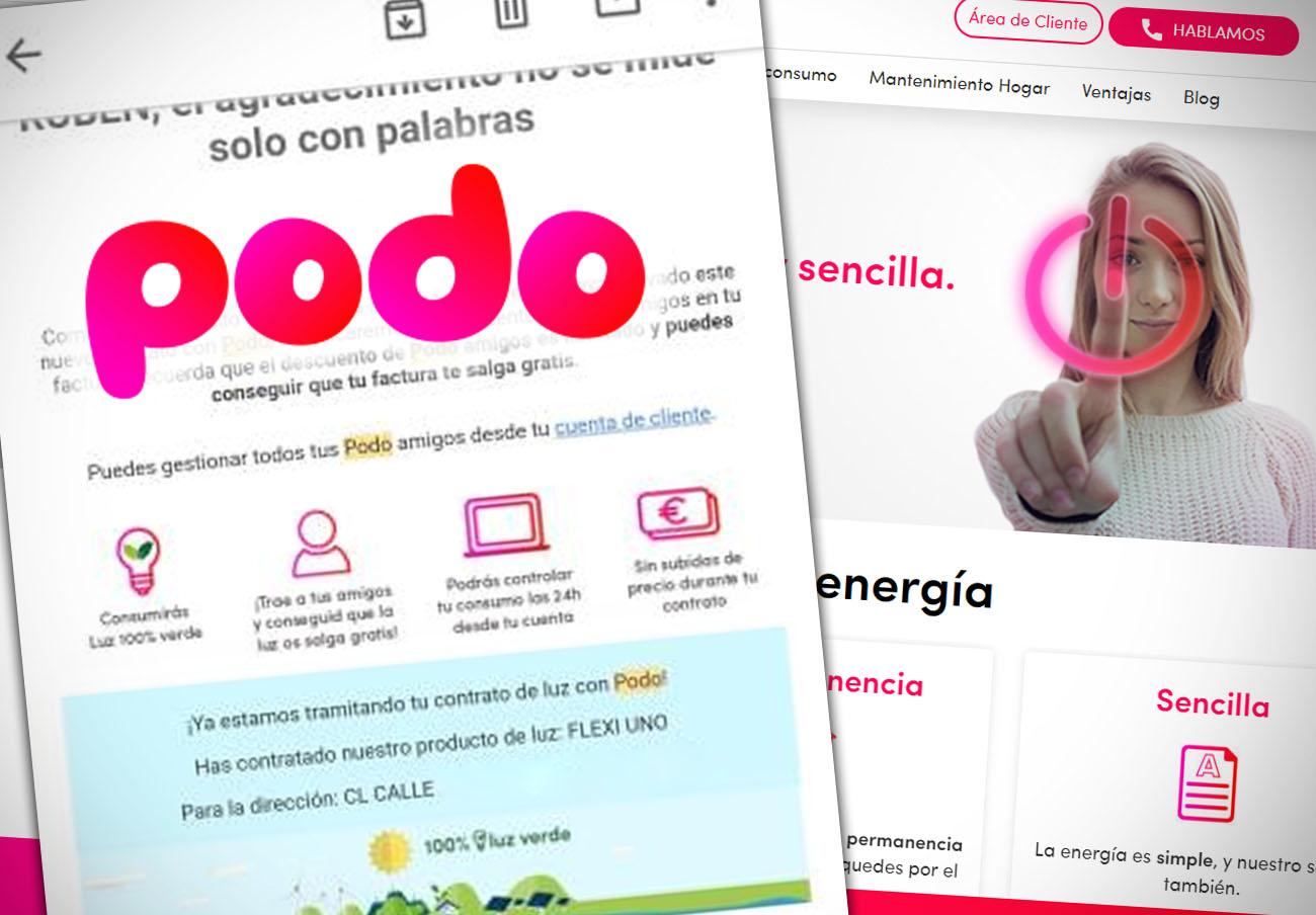 FACUA denuncia a Podo por subir sus tarifas pese a comprometerse a mantenerlas durante un año