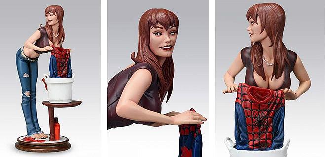 Polémica por la presentación sexista de la esposa de Spider-Man en una estatuilla