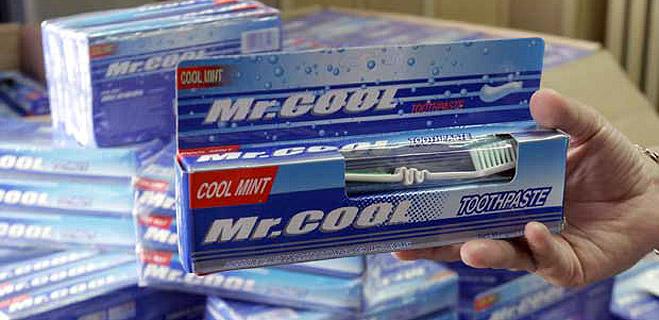 Aparece en España el dentífrico que inició la alerta mundial por la contaminación con dietilenglicol, Mr. Cool