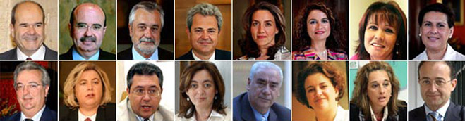 El nuevo Gobierno andaluz cuenta con 15 consejerías y siete caras nuevas