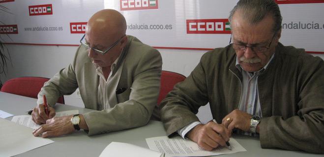 Firmado un convenio de colaboraci�n entre CCOO y FACUA M�laga