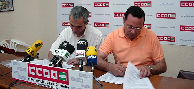 CCOO y FACUA C�rdoba firman un convenio de colaboraci�n