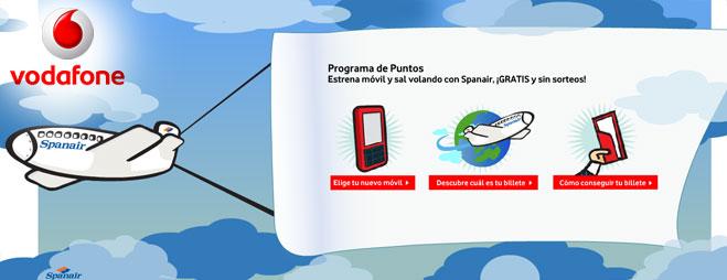 FACUA denuncia a Vodafone por anunciar vuelos gratis que en realidad no lo son