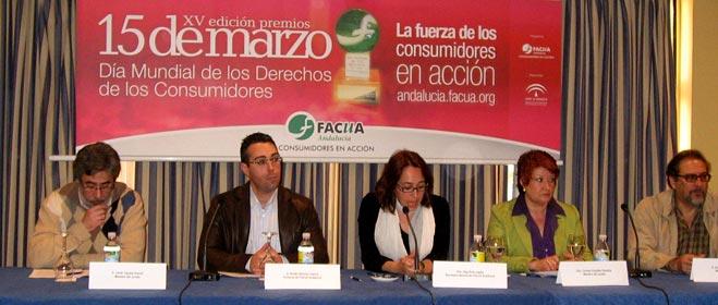 FACUA Andalucía premia al Hospital de Jerez, Consumo de la Diputación de Córdoba y nueve ayuntamientos sevillanos