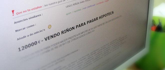 FACUA denuncia ante la Guardia Civil 31 anuncios de venta de órganos a través de Internet