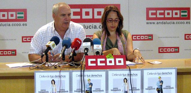 FACUA y CCOO de Andalucía presentan la campaña 'Defiende tus derechos'