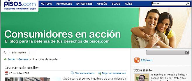 FACUA pone en marcha un blog en 'pisos.com', el portal inmobiliario del grupo Vocento