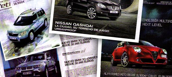 Los modelos de automóviles que aparecen en los anuncios cuestan entre un 8 y un 150% más de lo que dice la publicidad
