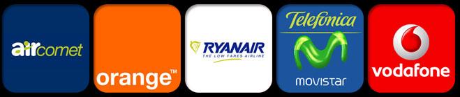 Las nominadas a la peor empresa del año son Air Comet, Ryanair, Telefónica Movistar, Vodafone y Orange