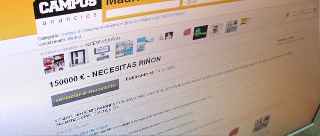 FACUA pide a la ministra de Sanidad que actúe contra los anuncios de venta de órganos a través de Internet
