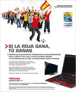 Toshiba niega el importe de los portátiles y televisores de su  promoción del Mundial a los usuarios que no se registraron en su 'web'