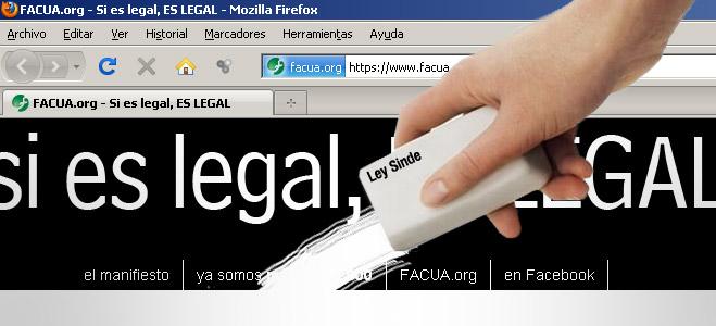 FACUA lamenta que PP y CiU acepten apoyar la 'Ley Sinde' tras una operaci�n de maquillaje que no altera su esencia