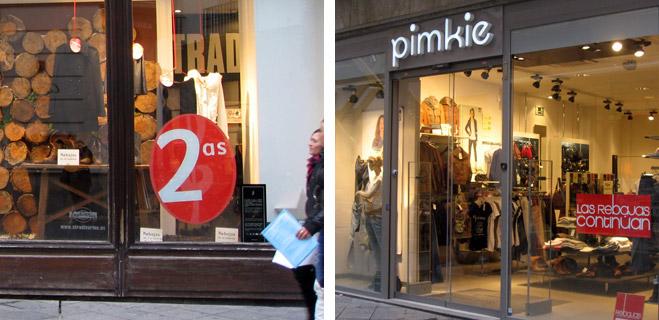 FACUA denuncia a establecimientos de Inditex y Pimkie por seguir anunciando rebajas en contra de la legislación comercial