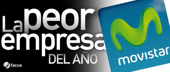 Los consumidores eligen por tercera vez a Movistar como La Peor Empresa del A�o