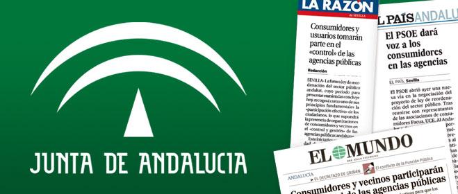 El PSOE incumple sus compromisos y excluye a las organizaciones de consumidores en la reordenación del sector público andaluz
