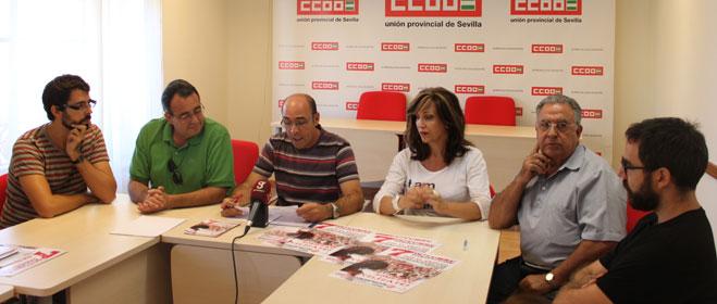 Organizaciones sociales de Sevilla ratifican su rechazo al recorte de los derechos laborales y sociales