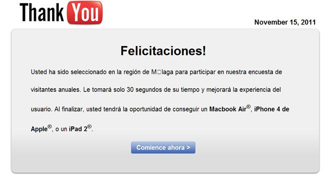 Simulan una encuesta de satisfacción de YouTube para cobrar hasta 35,50 euros mensuales a los usuarios que facilitan su móvil