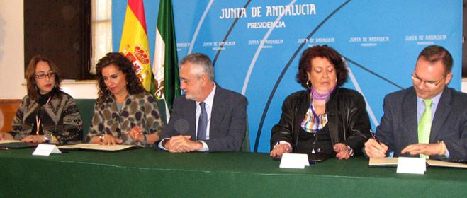 La Junta de Andalucía y las tres organizaciones de consumidores  firman el I Pacto por la Garantía de los Derechos de los Consumidores