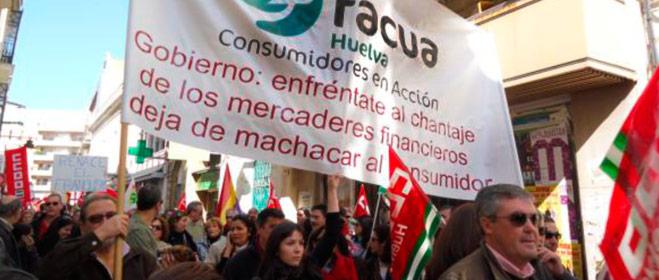FACUA Huelva se moviliza en defensa de los intereses y derechos del consumidor
