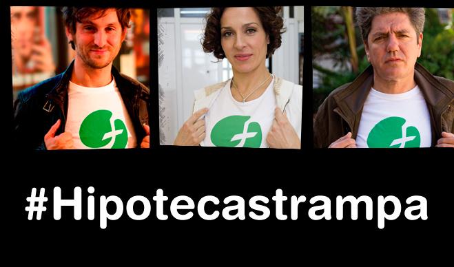 Raúl Arévalo, Natalia Millán y Antonio Dechent protagonizan una campaña contra las hipotecas trampa