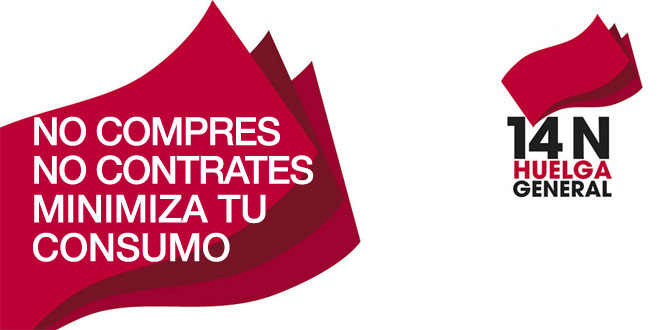 Dec�logo de FACUA para convertir el 14N en una huelga total