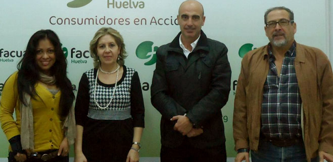 FACUA Huelva se reúne con Asemco para analizar la problemática del pequeño y mediano comercio de la provincia