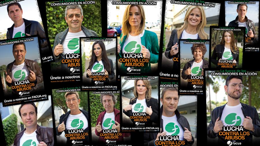 Presentadores de Canal Sur se unen a FACUA en la 'Lucha contra los abusos'