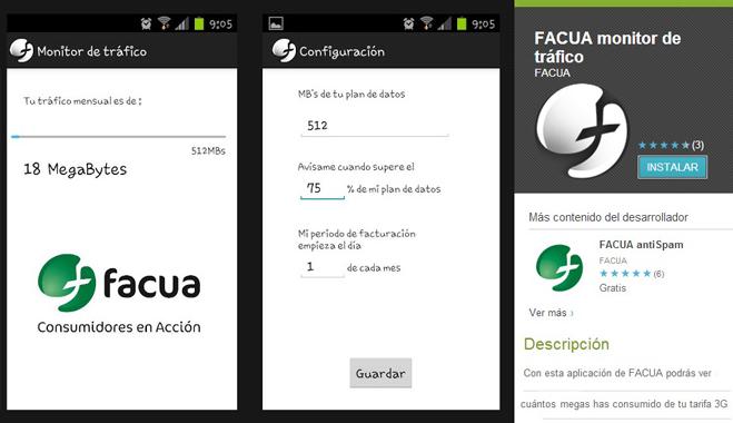 FACUA crea una aplicación de móvil que permite al consumidor conocer su consumo de Internet
