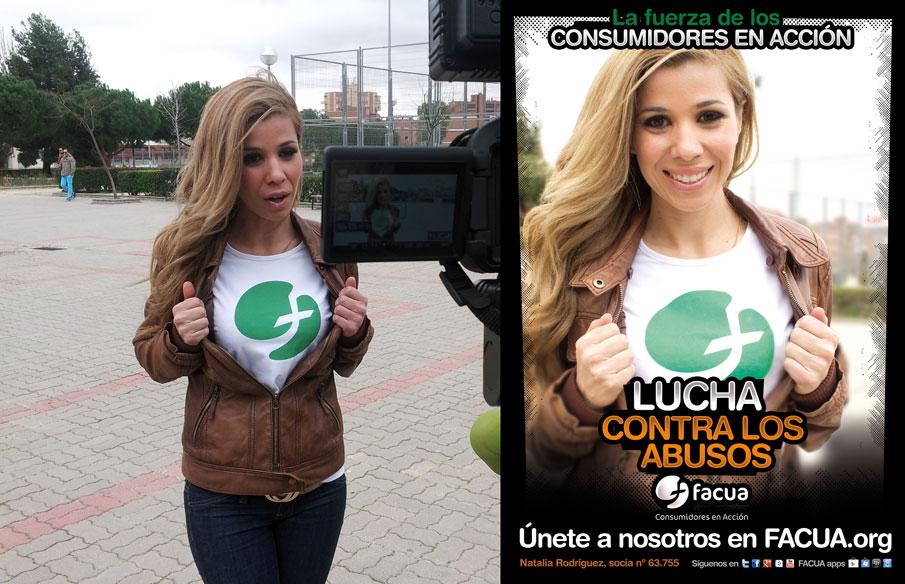 Natalia protagonizará una campaña de FACUA contra los abusos en telecomunicaciones