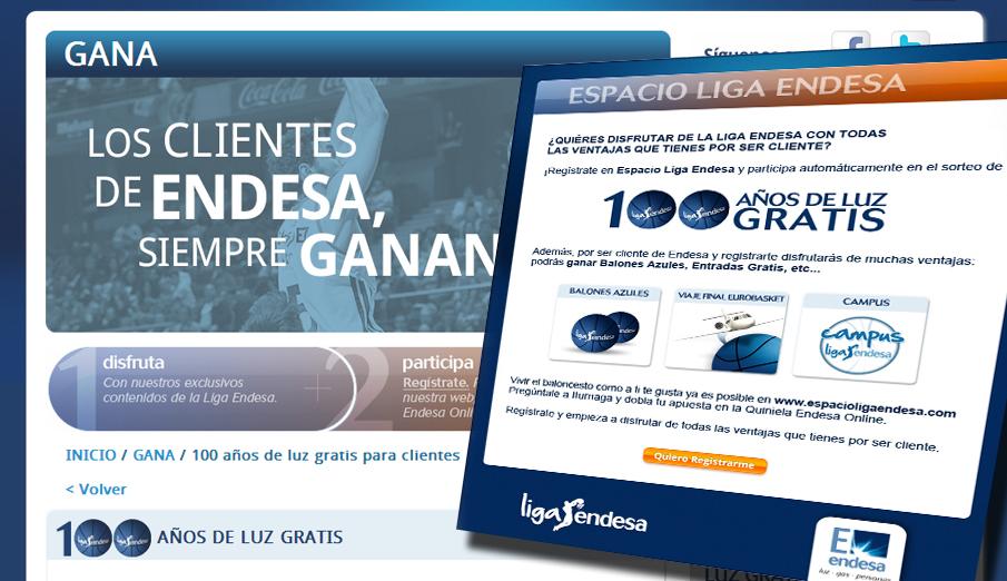 Endesa anuncia el sorteo de '100 años de luz gratis'... cuando el premio se reduce a sólo 700 euros