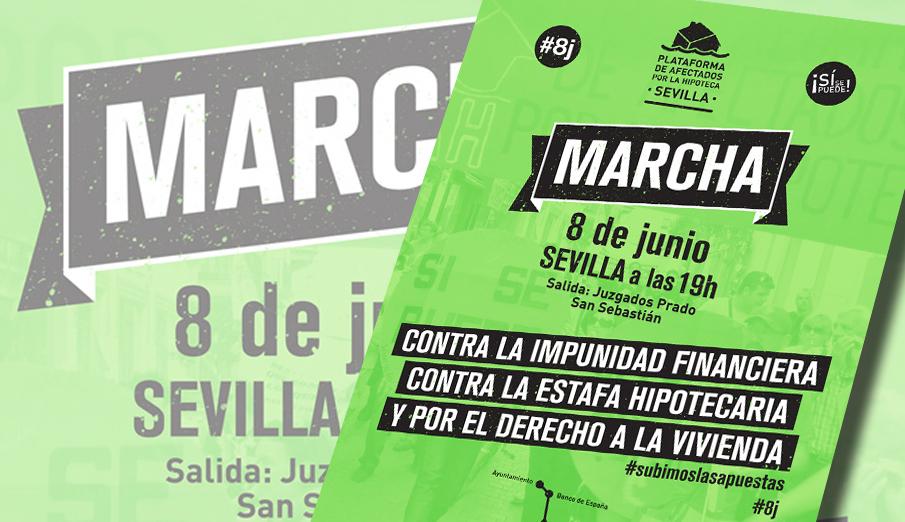 FACUA Sevilla llama a secundar la marcha por el derecho a la vivienda de este sábado