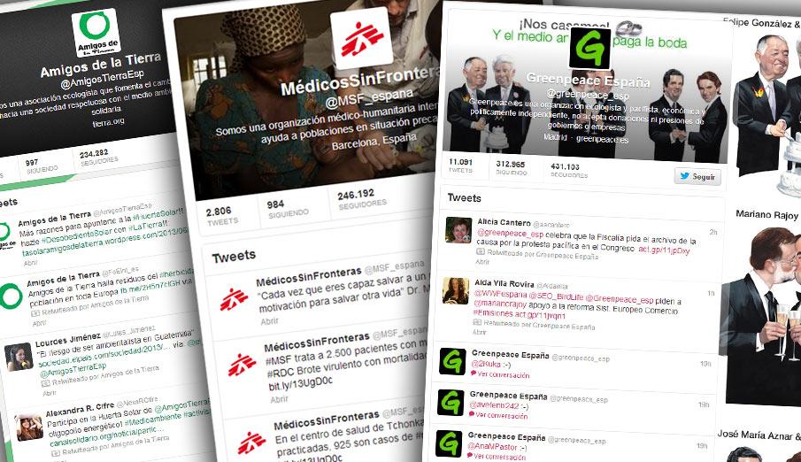 Las 10 ONG españolas con más seguidores en Twitter
