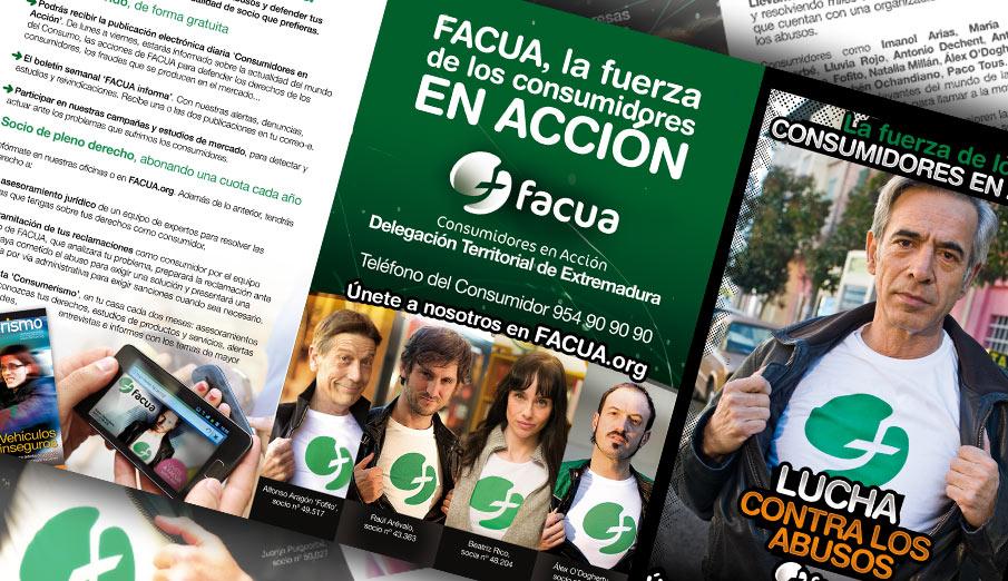 La delegación territorial de FACUA en Extremadura se da a conocer entre los ciudadanos