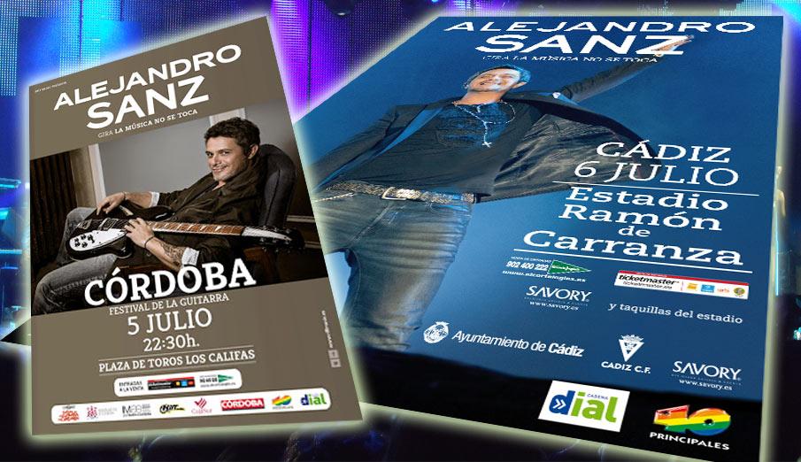 FACUA denuncia irregularidades durante los conciertos de Alejandro Sanz en Cádiz y Córdoba