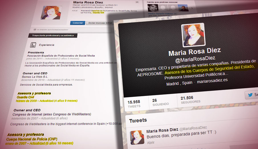 Una empresaria finge ser asesora de Policía y Guardia Civil para dar cursos de redes sociales #fraudeCM